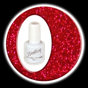 09 Ruby Slippers - Shimmering Deep Red Metallic Glitter.